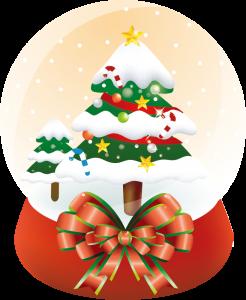 クリスマスのイベントは、お揃い柄の抽選箱と三角くじで!